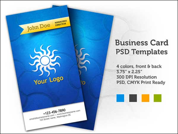Free Business Card PSD Templates (front & back)