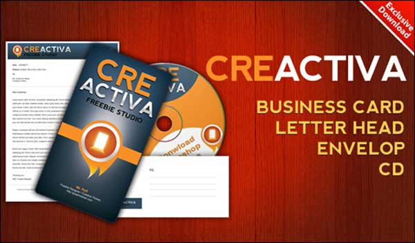 Business card, letterhead, envelope, CD label .PSD files