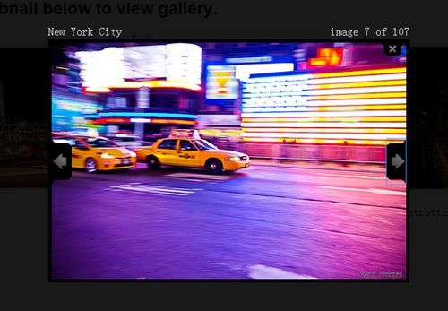 jQuery flickr thumbnail gallery