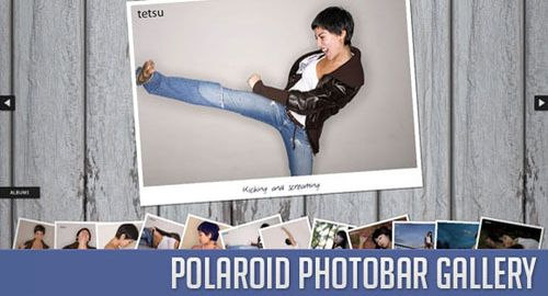 Polaroid Photobar Gallery with jQuery