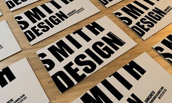 typographic business cards designs 04