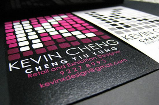 typographic business cards designs 12