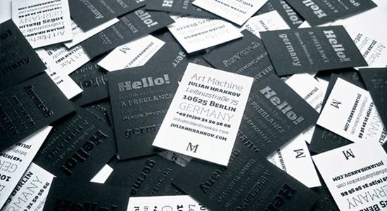 typographic business cards designs 30