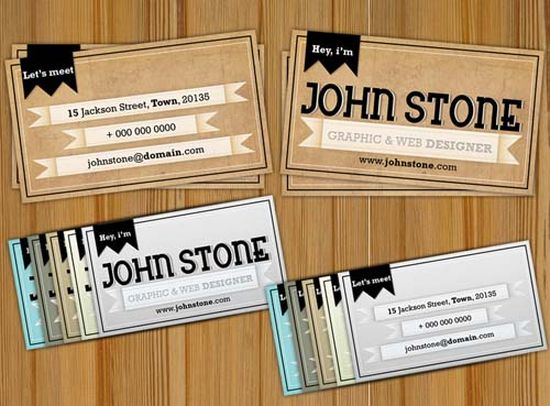 typographic business cards designs 50