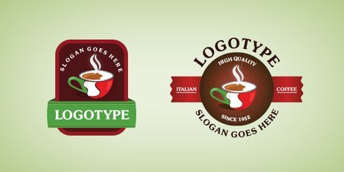 Italian Coffee Logo Template