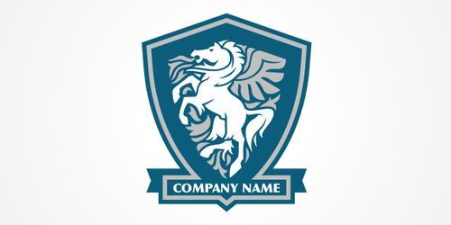 A beautiful horse logo psd