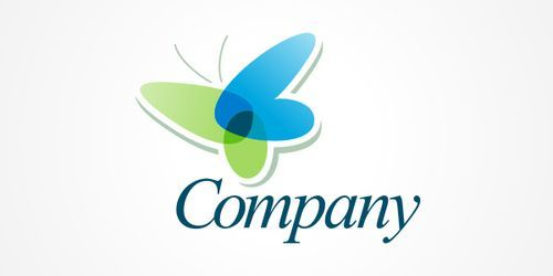 transparent butterfly logo psd