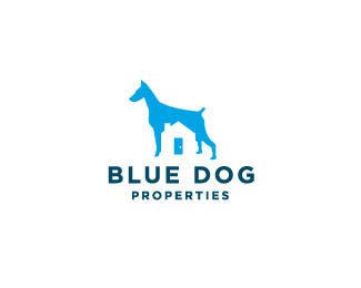 Blue Dog Properties Beautiful Animal and Pet Logo Designs