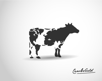 Cow World Beautiful Animal and Pet Logo Designs