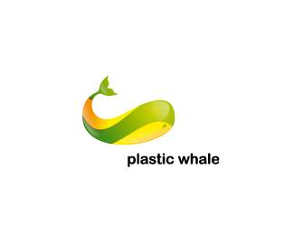 Plastic Whale Beautiful Animal and Pet Logo Designs