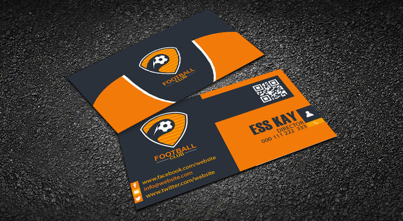 Football-Club-Creative-Business-Card-With-QR-Code-2015