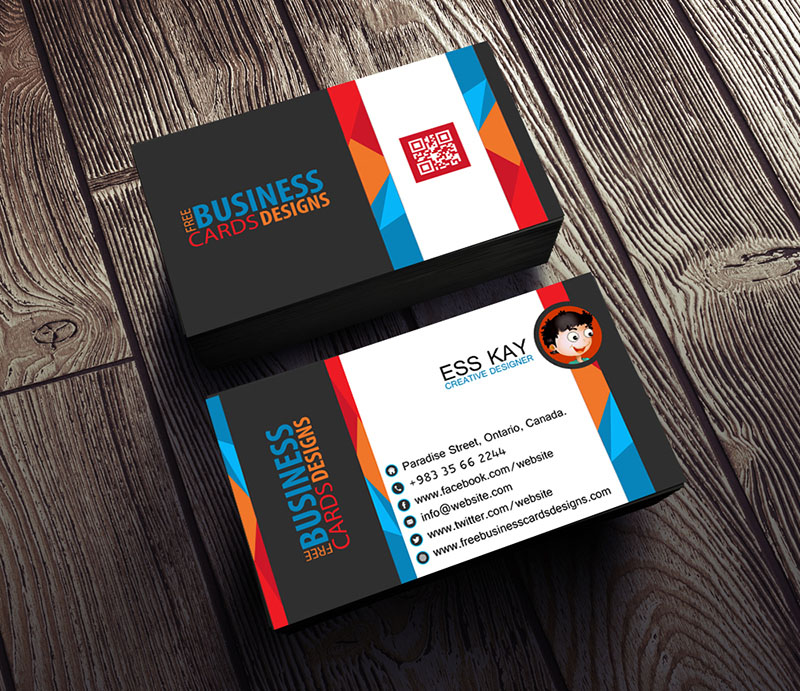Free-Business-Card-Template-Design-For-Creative-Studio-With-QR-Code-2015