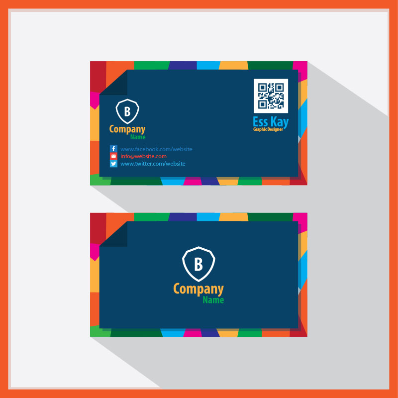 Free-Creative-Business-Card-With-QR-Code-2015