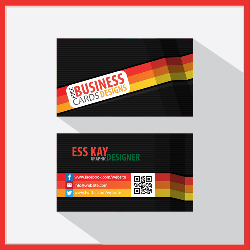 Free-Creative-Folded-Business-Card-With-QR-Code-2015