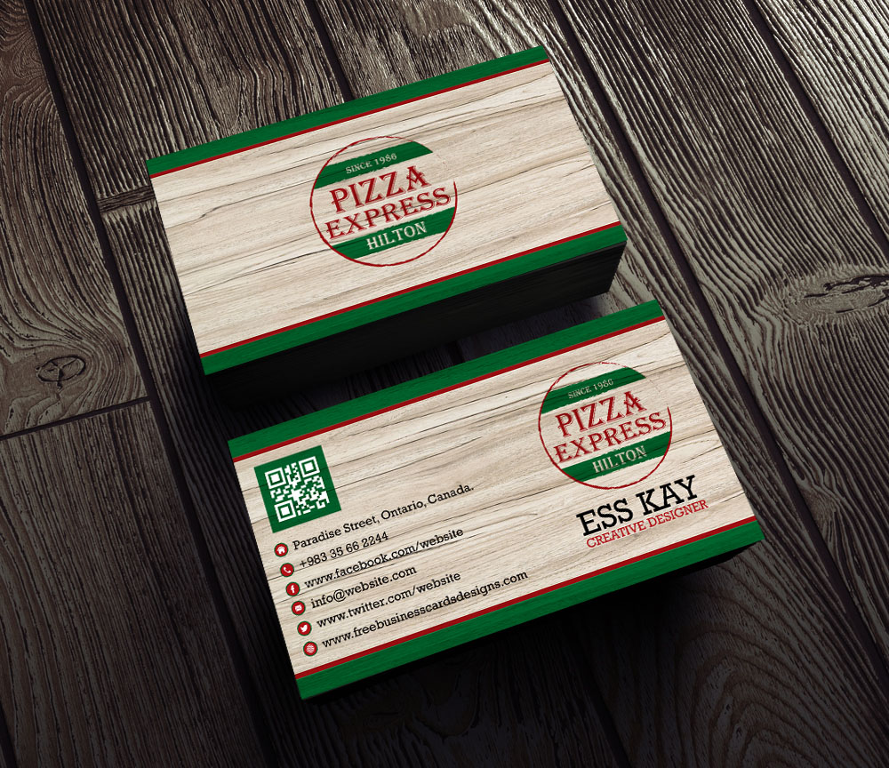 Free-Vintage-Pizza-Business-Card-With-QR-Code-2015
