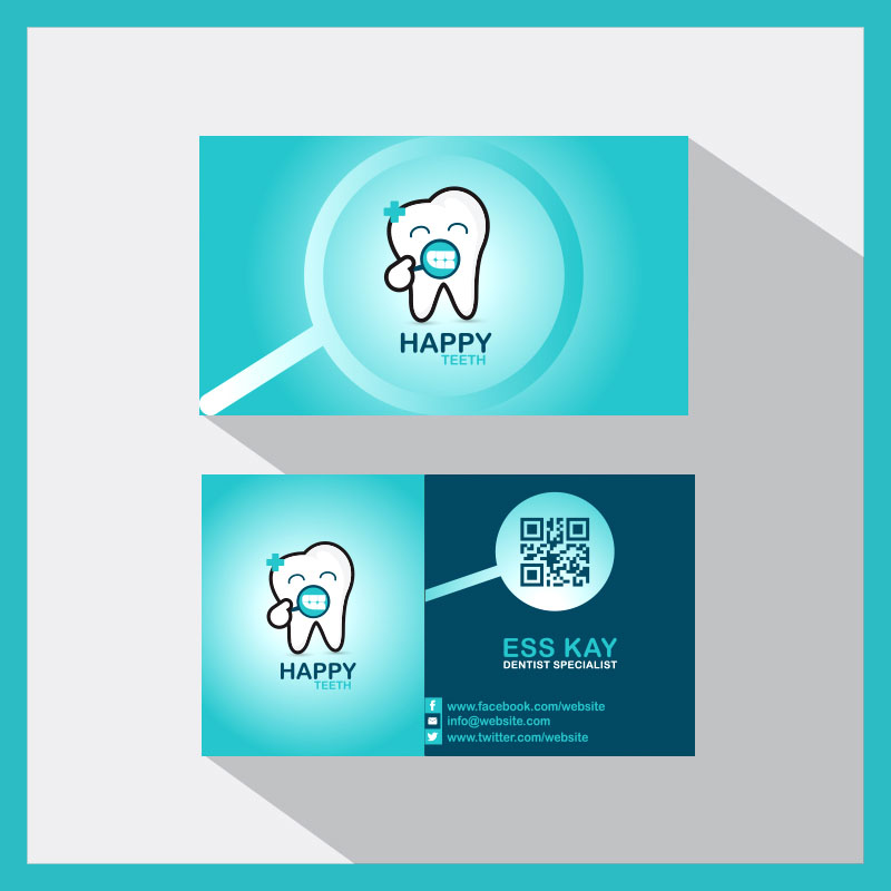 Happy-Teeth-Creative-Business-Card-With-QR-Code-2015