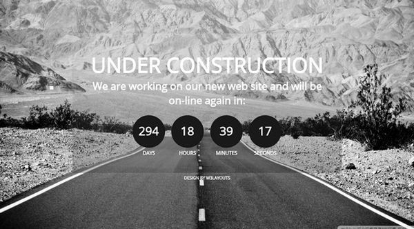 thiet ke web under construction/coming soon Mobile Website Template