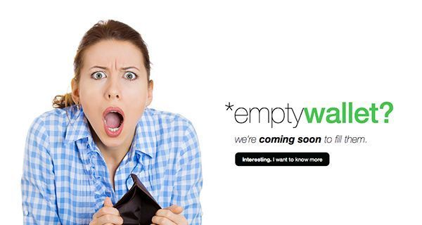 thiet ke web under construction/coming soon Empty Wallet