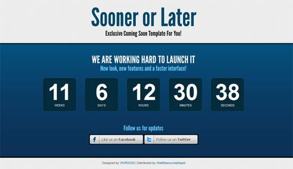 thiet ke web under construction/coming soon with Countdown