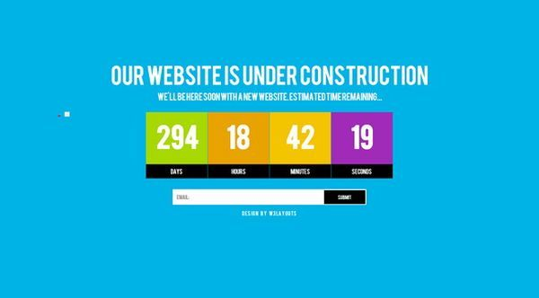 thiet ke web under construction/coming soon Grand