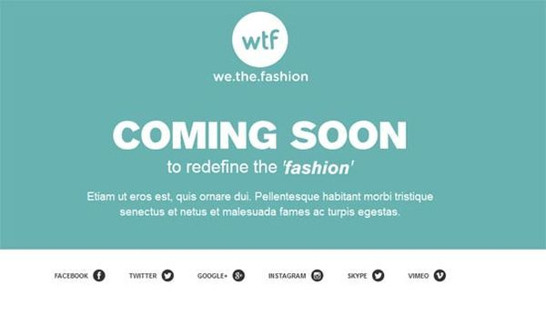 thiet ke web under construction/coming soon We The Fashion