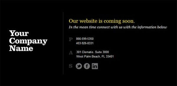thiet ke web under construction/coming soon Website