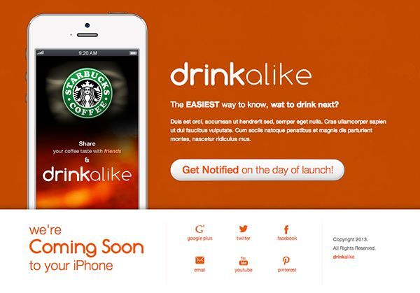 thiet ke web under construction/coming soon drinkalike-the-iphone-app