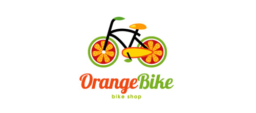 thiet ke logo xe dap orange logo design bike