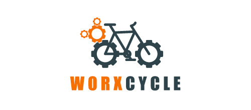 thiet ke logo xe dap work bicycle logo design