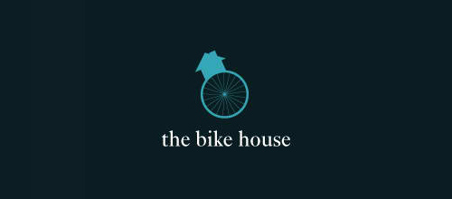 thiet ke logo xe dap The Bike House logo