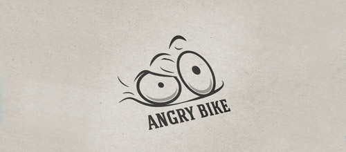 thiet ke logo xe dap angry bicycle logo design