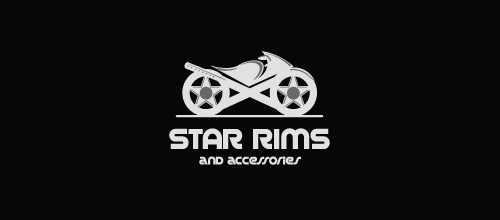 thiet ke logo xe dap Star Rims and Accessories