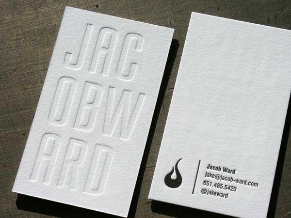 white-inkless-business thiet ke business card toi gian