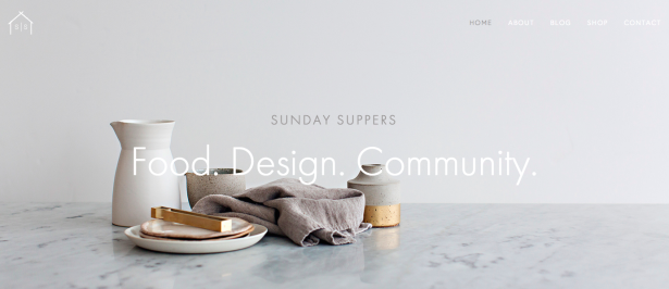 sunday suppers thiet ke web