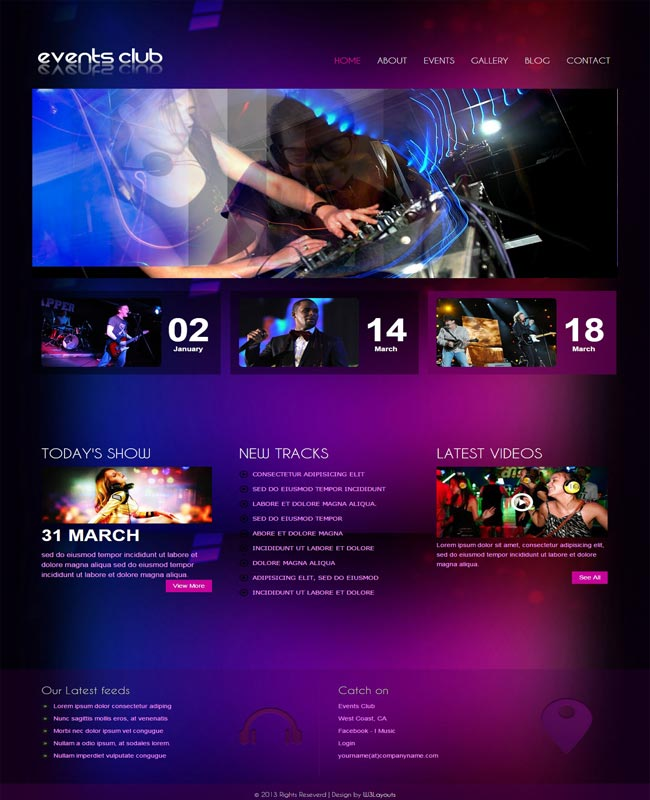 Events - thiet ke website mien phi