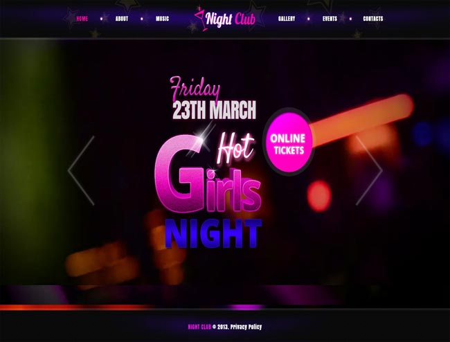 Night club - Fullscreen Video & Image Background thiet ke website chuyen nghiep