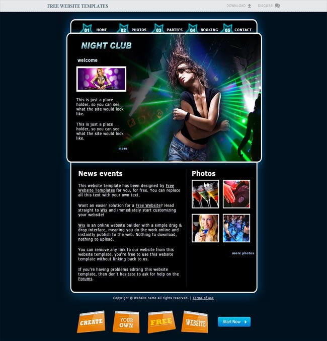 NightClub2 - Html5 thiet ke website mien phi