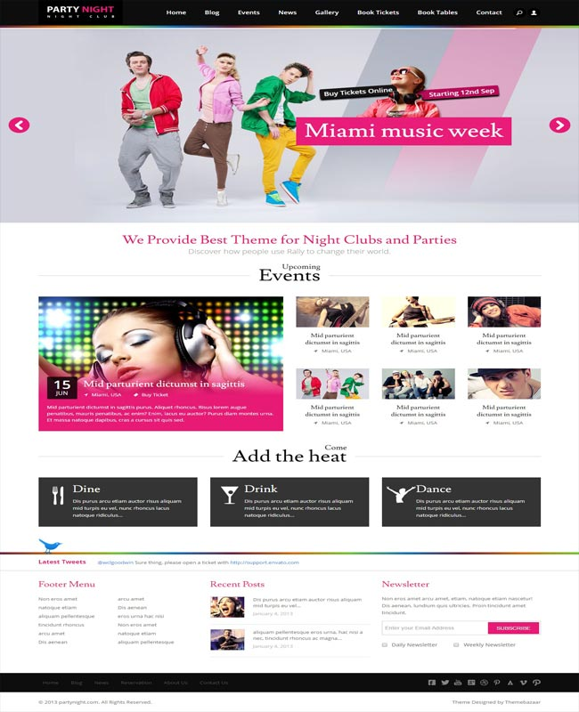 Party Night -Night Events Night Club HTML5 thiet ke website chuyen nghiep