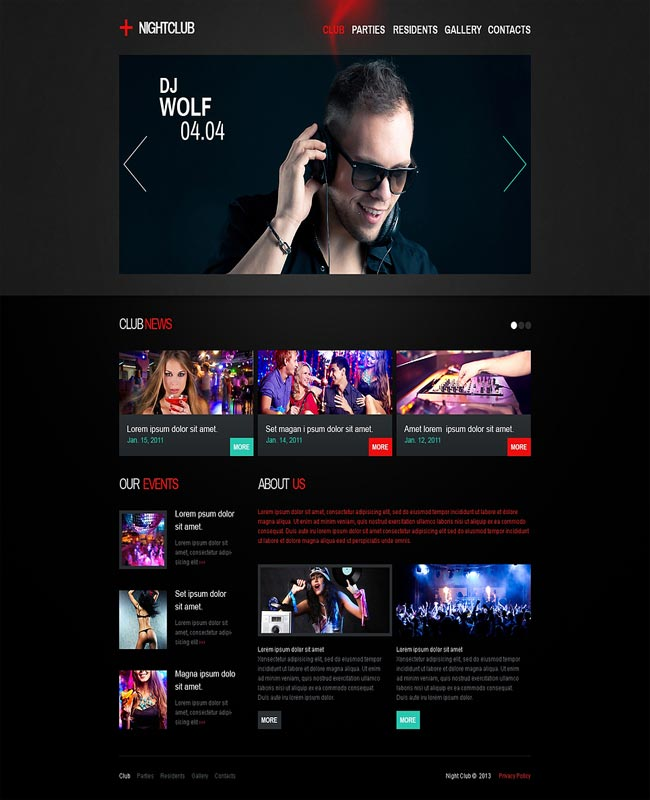 Plus NightClub - Responsive Night DJ Party thiet ke website chuyen nghiep