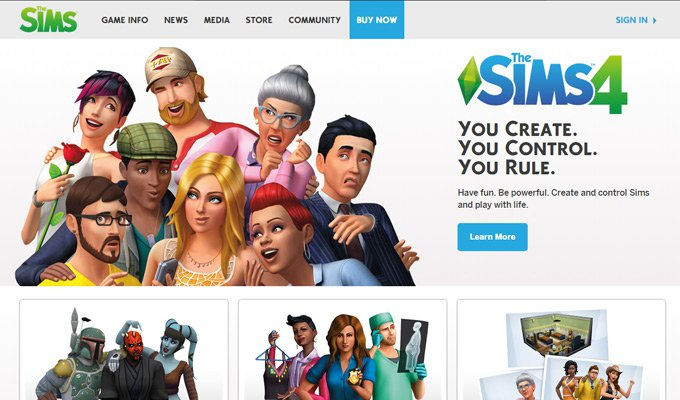 the sims video game thiet ke website game
