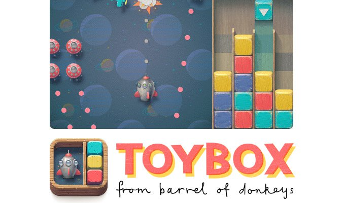 toybox game homepage layout