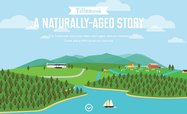 a naturally aged story thiet ke flat illustration website