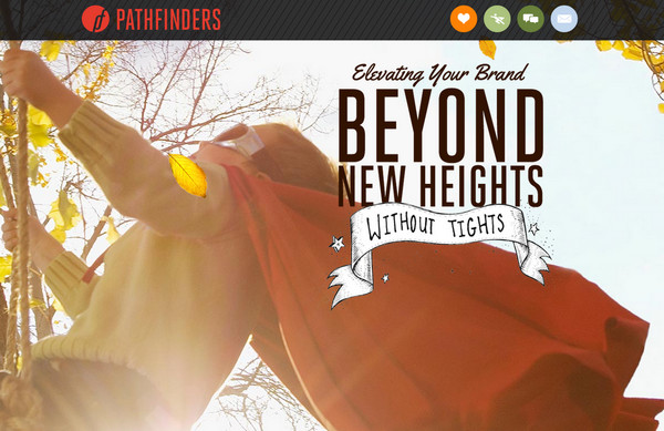 pathfinders thiet ke web typography