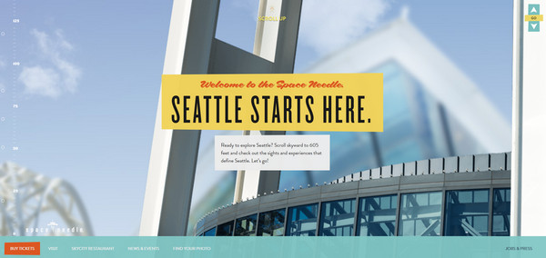 space needle thiet ke web typography