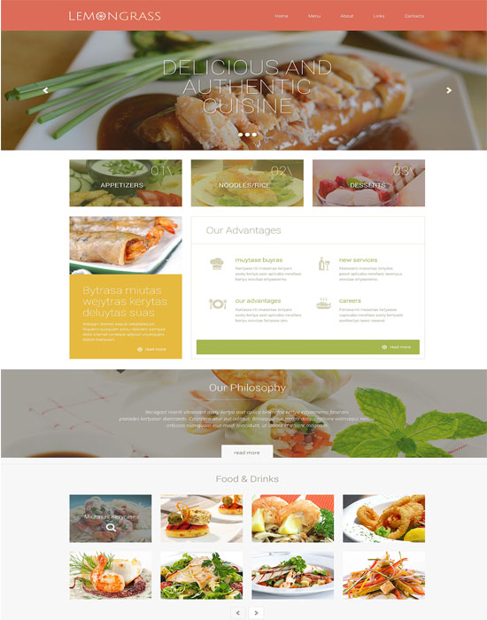 Cafe and Restaurant thiet ke website cafe