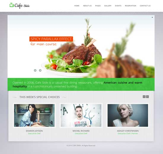 Cafe Slide - thiet ke website cafe