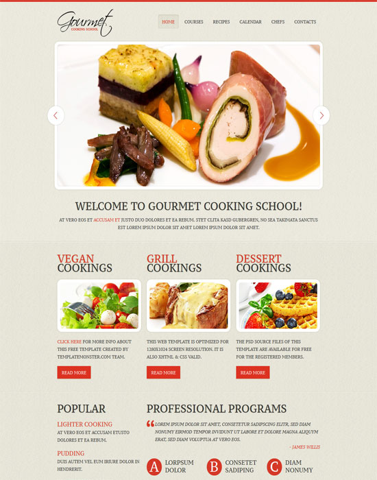 Cooking -thiet ke website cafe mien phi
