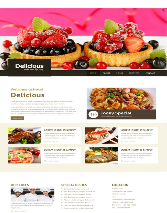 Delicious thiet ke website cafe mien phi