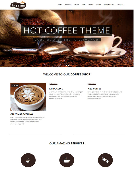 Frattini -thiet ke website cafe cao cap