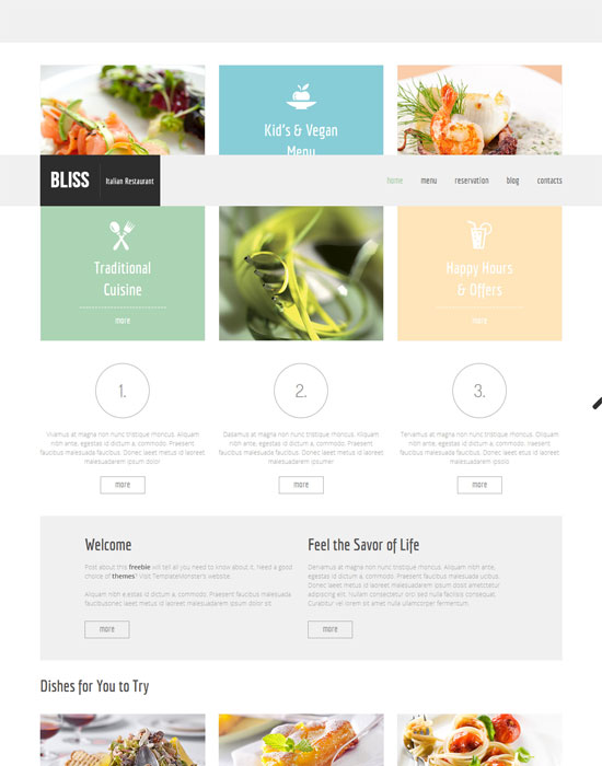 Free HTML5 thiet ke website cafe mien phi